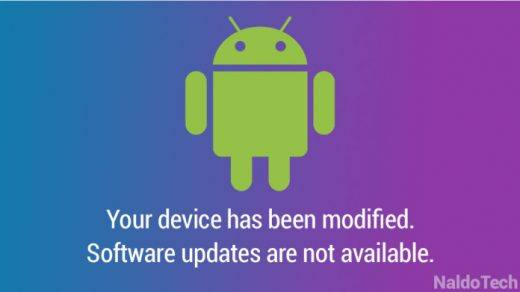 Device modified, cannot update