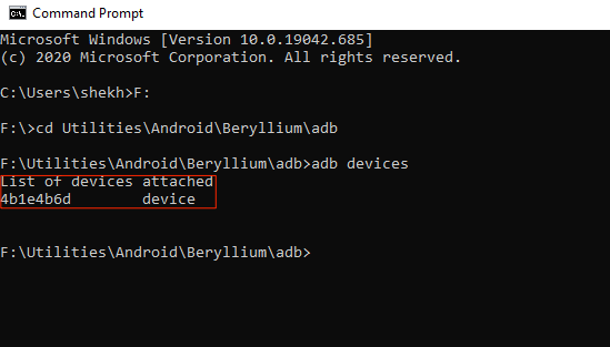 Device Connected ADB Fastboot