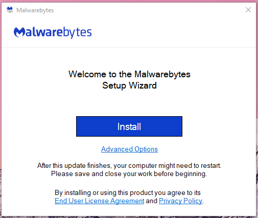 Download & install Malwarebytes or any other mentioned solution