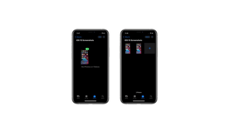 Drag and Drop Screenshot in iOS 15