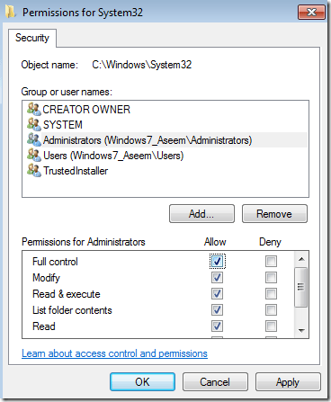 Edit the Username and Permissions