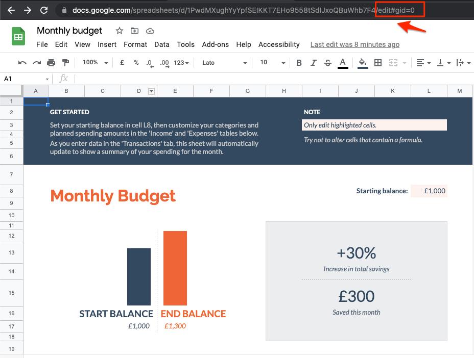 Edit Doc Spreadsheet