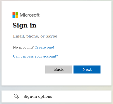 Enter the email address associated with your Microsoft account