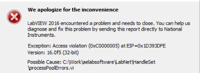 Exception Access Violation