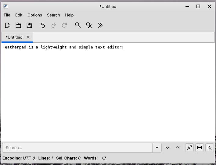 Featherpad Text Editor