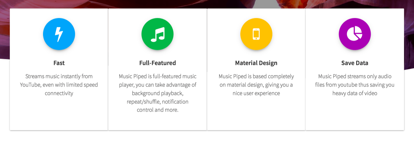 Features at Glance - Music Piped