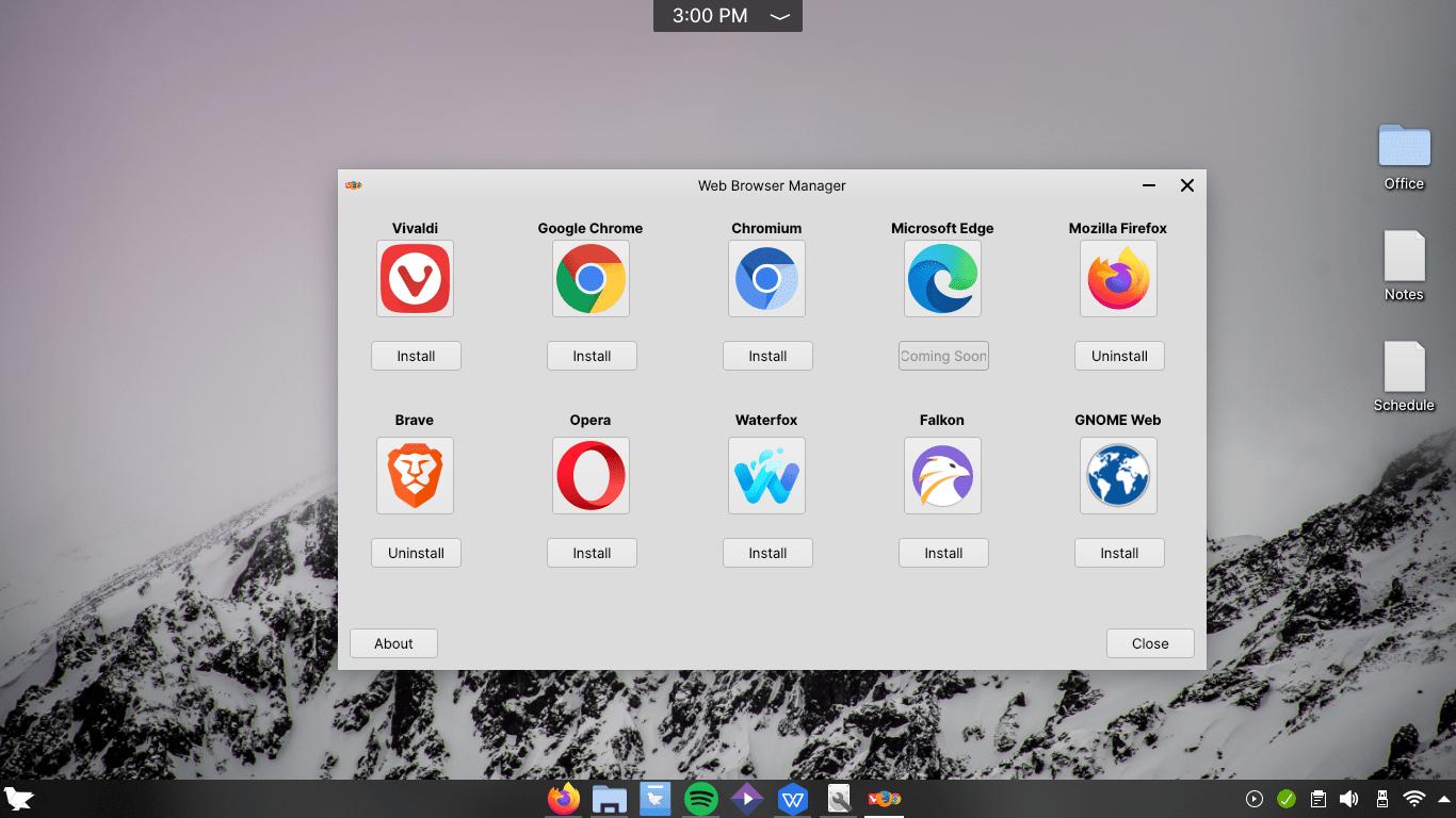 Feren OS Web Browser Integration