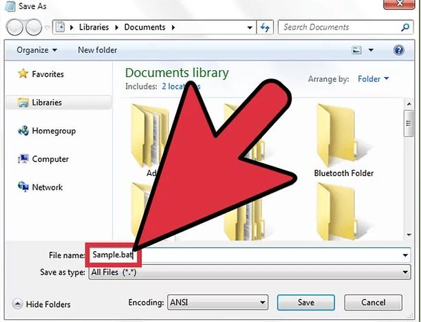 File name & Save as type