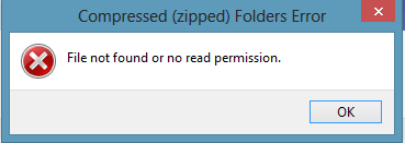 File Not Found or No Read Permission