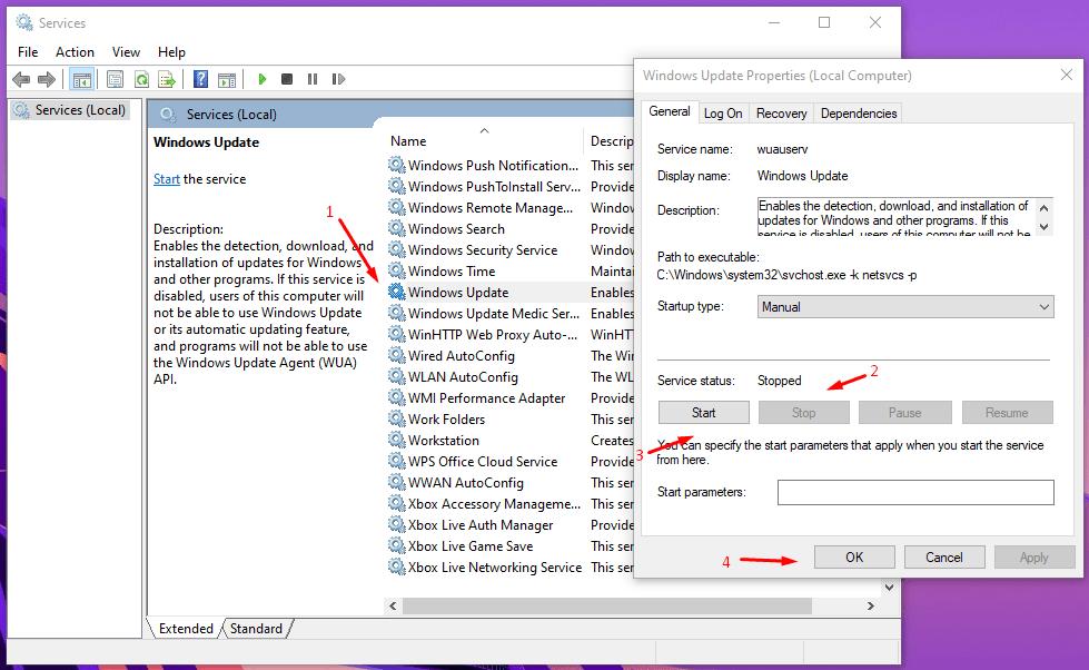 """Find """"Windows Update"""""""