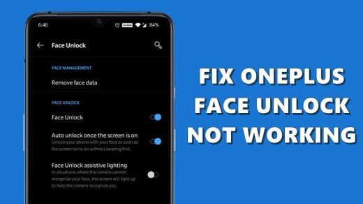 Fix OnePlus Face Unlock Not Working