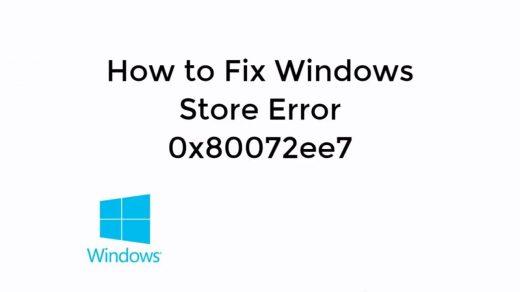 Fix Windows Store Error 0x80072ee7