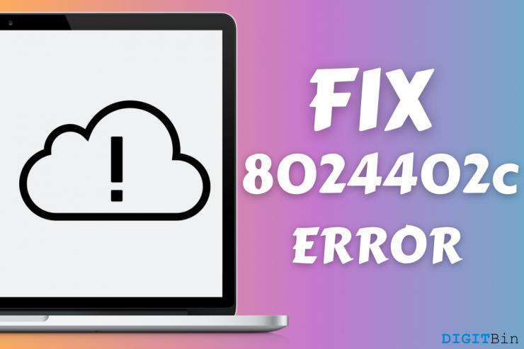 Fix error 8024402c