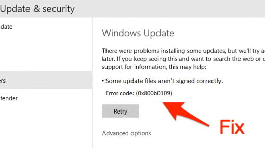 Fix Error 0x800b0109 Some Update Files arent Signed correctly