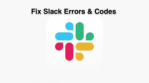 Fix Slack Errors & Codes