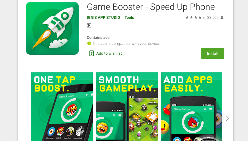 Game Boost Speed Up