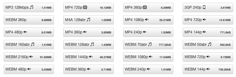 Variety of GenYouTube Supported File Formats