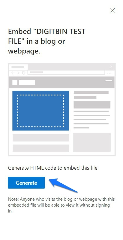 Generate HTML Embed