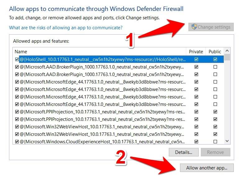 Genshin Windows Firewall