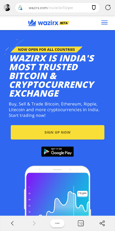 Get WazirX Mobile App
