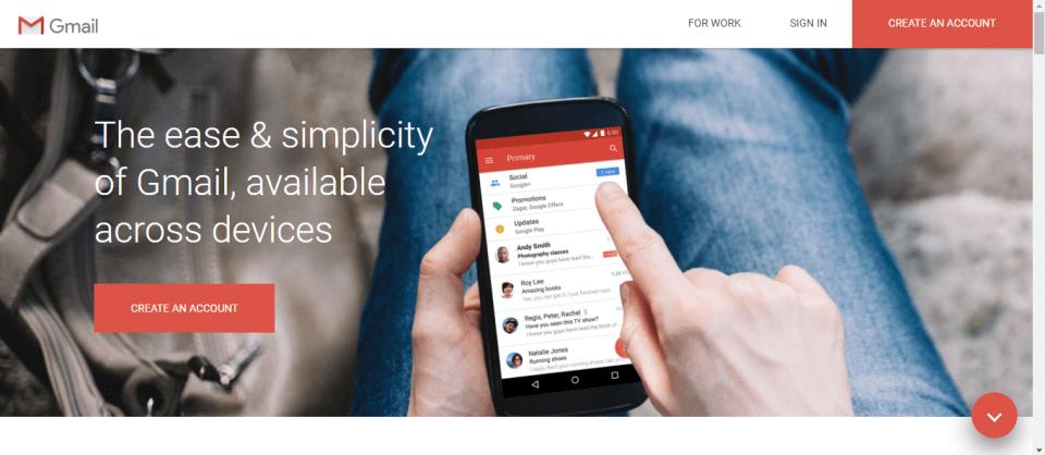 Gmail Account Homepage