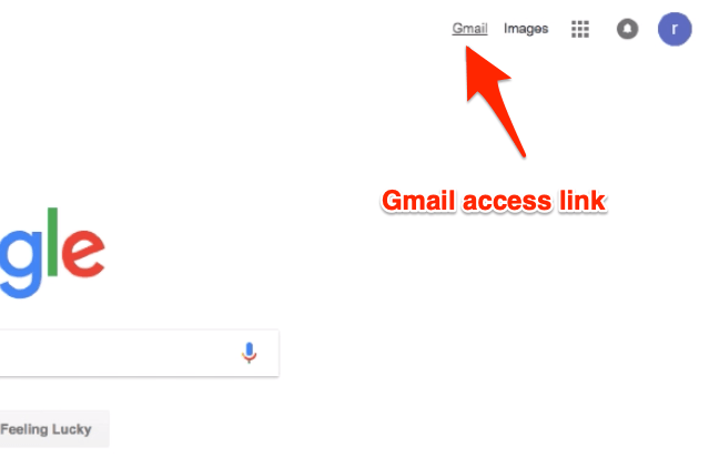 Gmail Link on Google Home Page