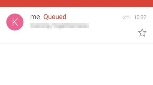 Gmail Queued mail with attachment