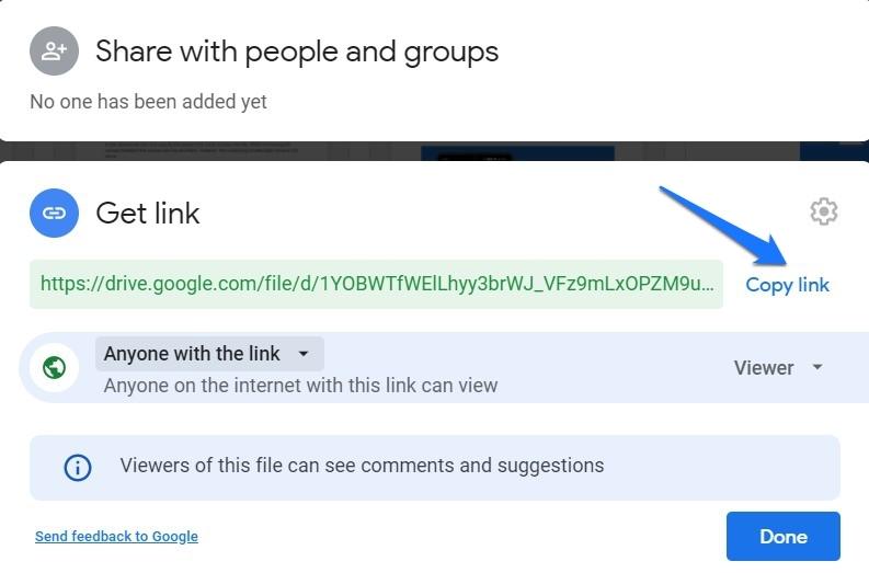 Google Drive Get Link