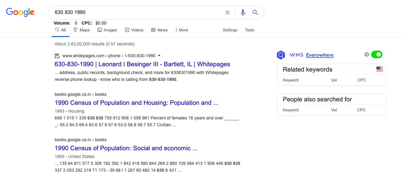 Google Phone Number Lookup