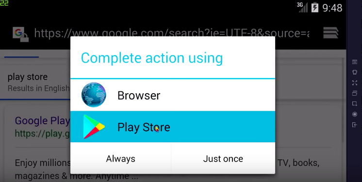 Google Play Store in TGB