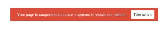 Google Plus Account Suspended