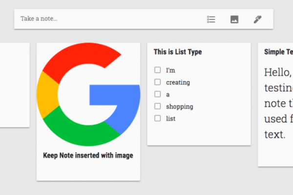 Google Keep Notes Type
