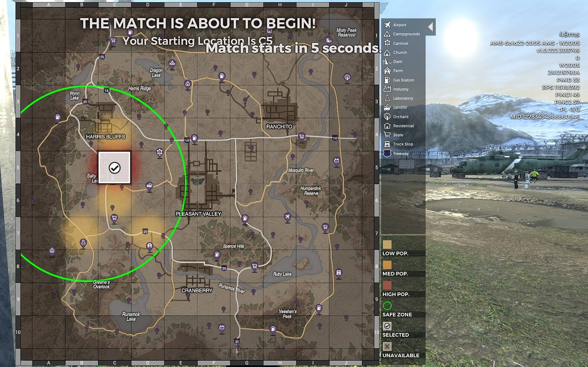 H1Z1 Map