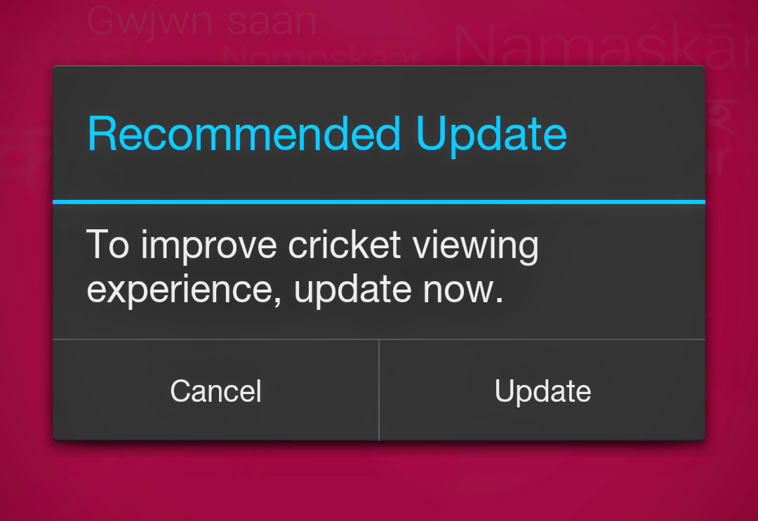 Hit Cancel Button and Enjoy Live TV