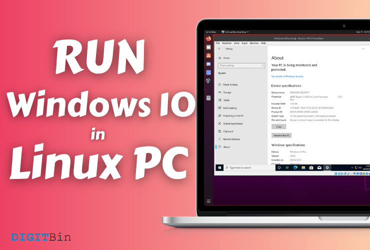 How to install Windows 10 in Linux PC