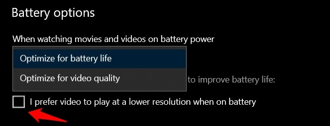 I prefer video to play at a lower resolution