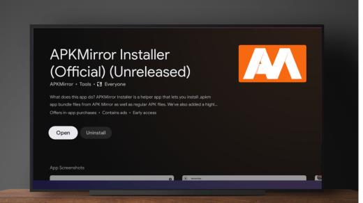 Install APKS, XAPK, APKM on Android TV