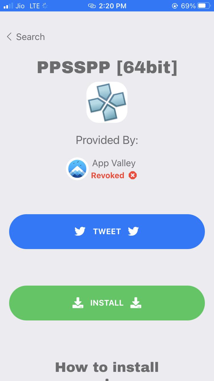 Install the PPSSSPP Emulator