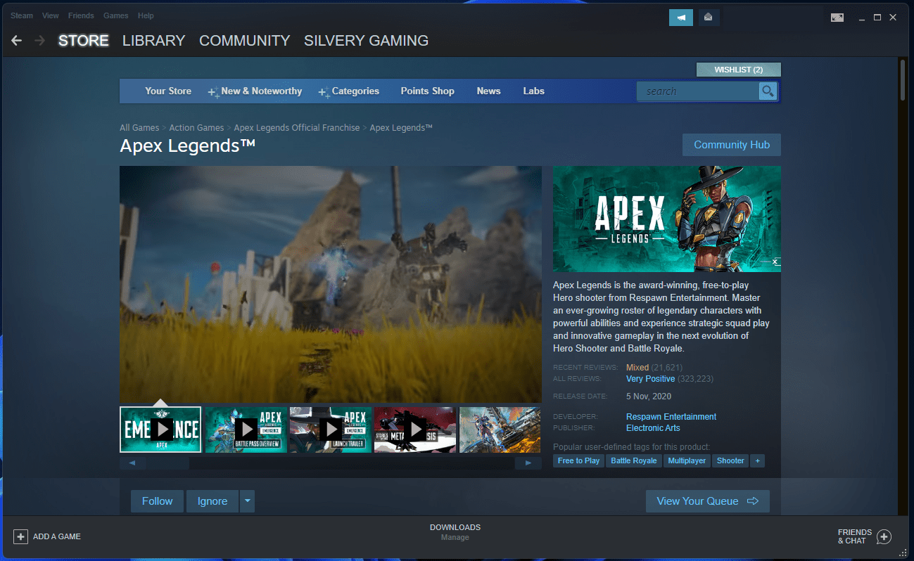 Install the game from the Steam library