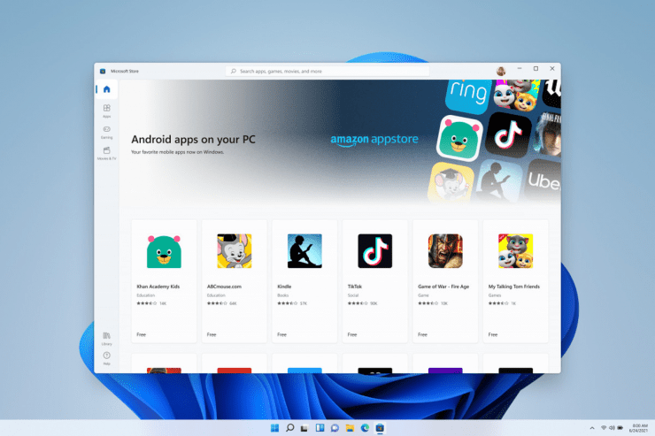 Install Android Apps and Games on Windows 11