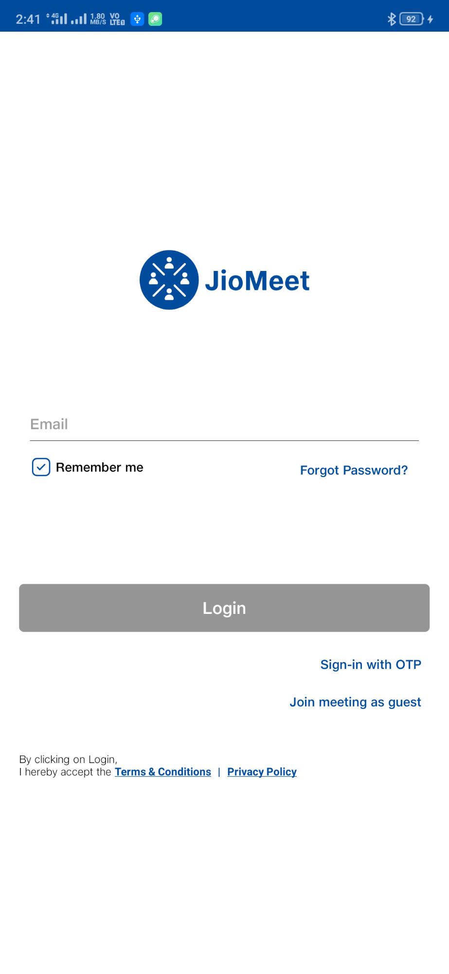 JioMeet Email
