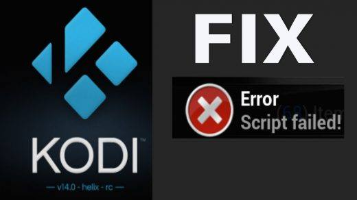 Kodi Fix Error Script failed