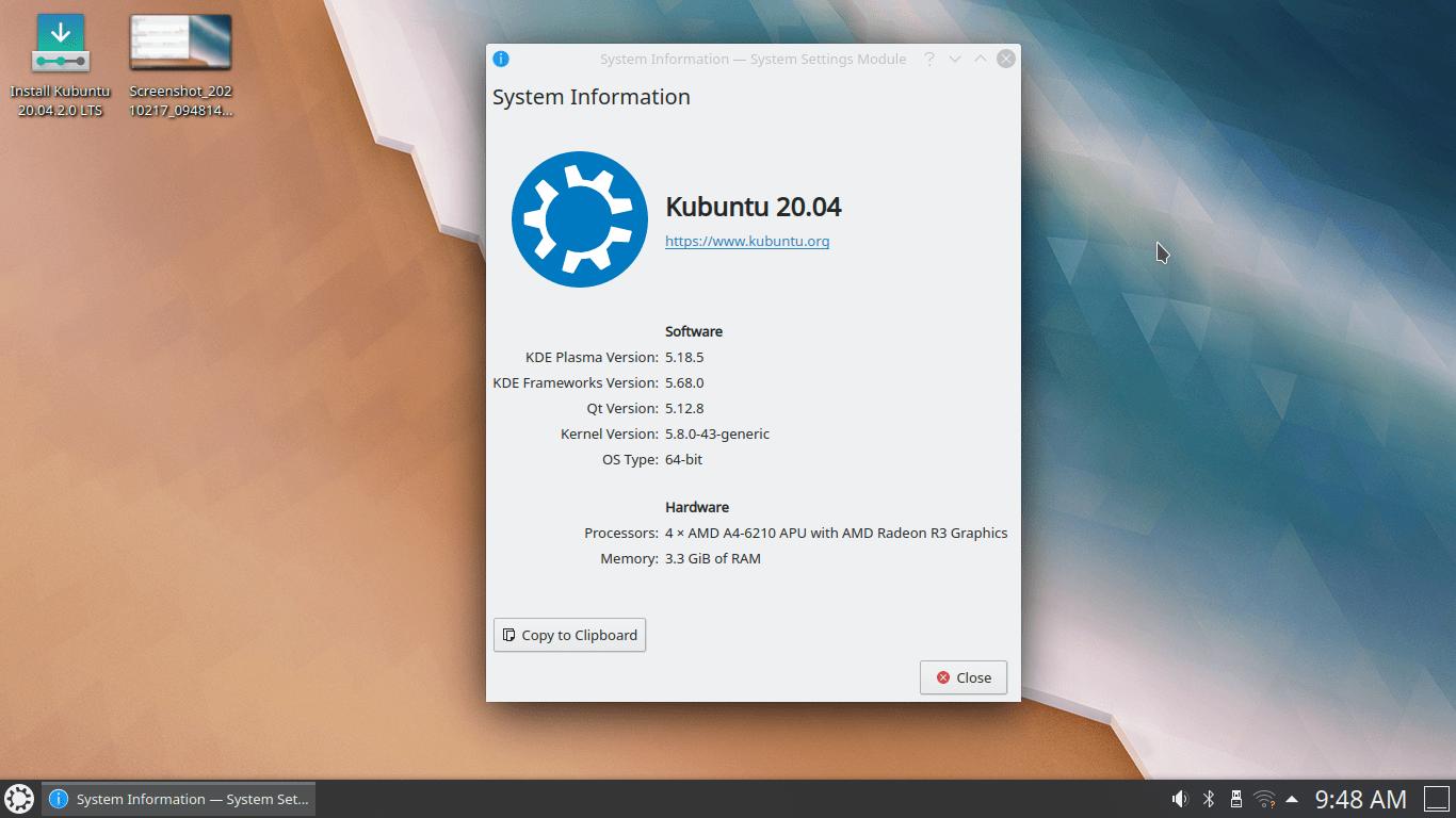 Kubuntu System Hardware
