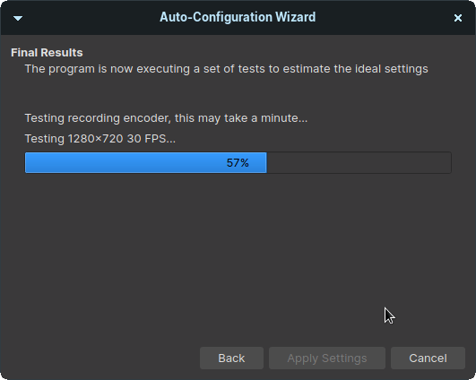 Let the OBS encoder run a few CPU/GPU tests