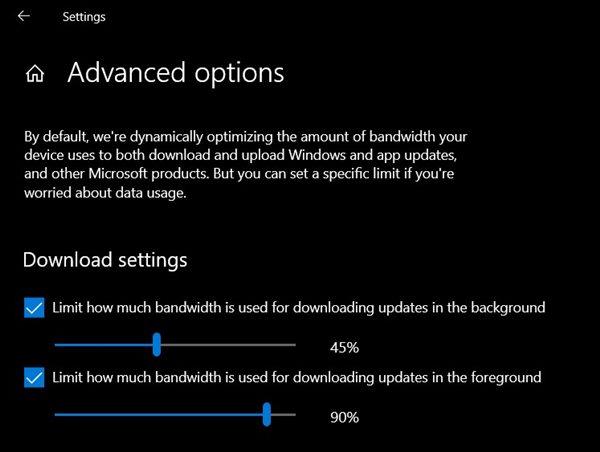 Limit Download Bandwidth