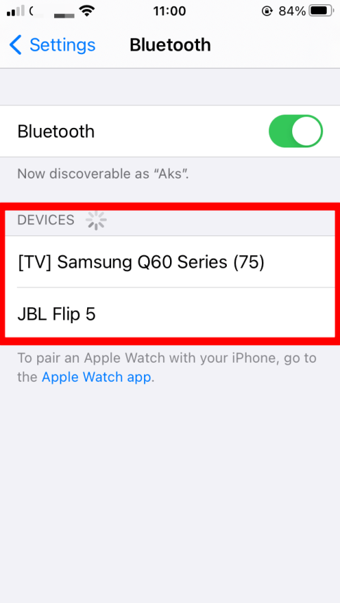 Look for Avaiiable Devices