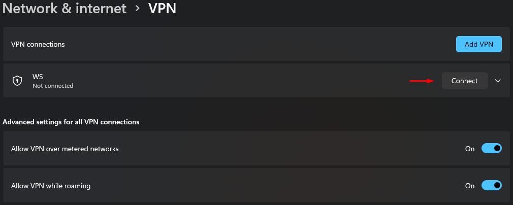 """Make sure VPN is disabled under """"VPN Connections"""""""