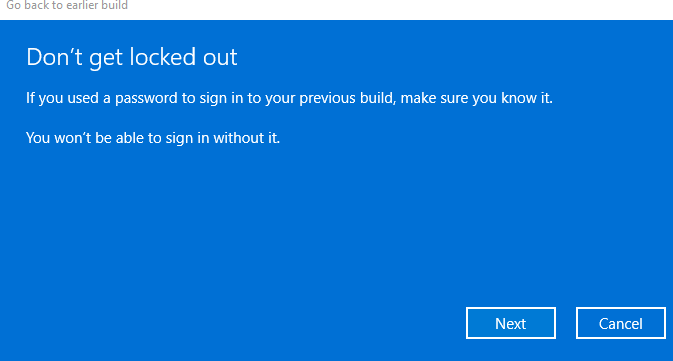 """Make sure that you remember the Windows 10 login password. And then click on """"Next"""" to proceed"""