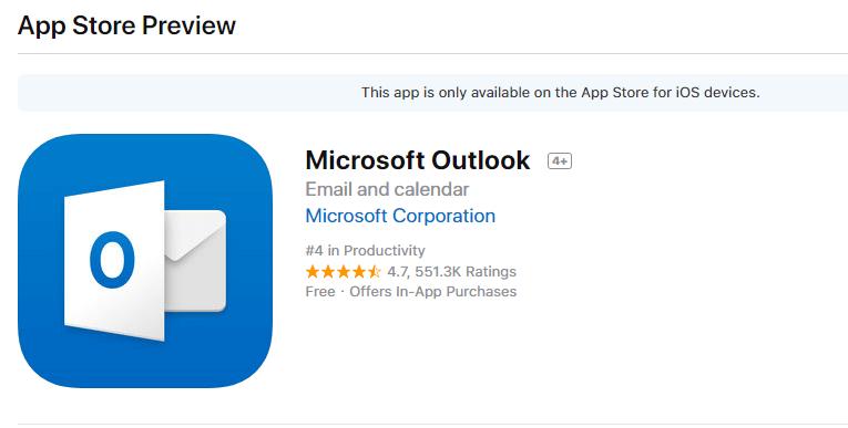 Microsoft Outlook iOS App