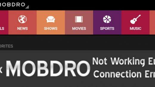 Mobdro Live Stream is Currently Offline. Try Again Later